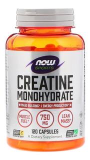 Creatine Monohydrate 120 Cápsulas Now Sports Importado Now Foods