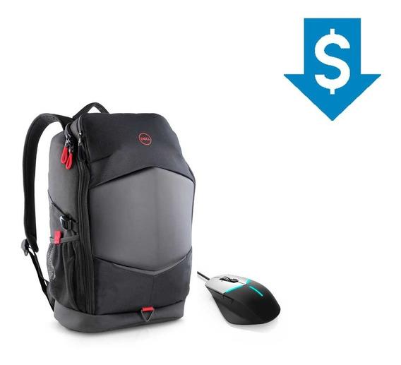 Combo Gamer Mochila Para Notebook Dell + Mouse Alienware