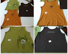 Blusas (plus Size) Vários Modelos E Marcas Lote C/ 05 Peças