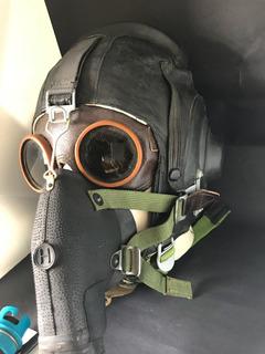 Capacete Piloto Máscara Soviética Antiguidade Rara Única Ml