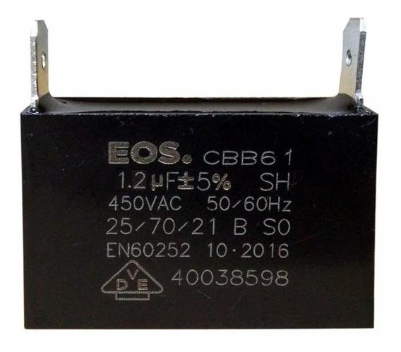 Capacitor 1,2uf 450vac Cbb61 P/ Ar Condicionado E Uso Geral