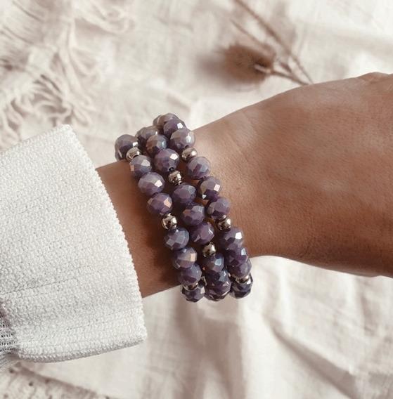 Pulsera Mery Cristales Violetas