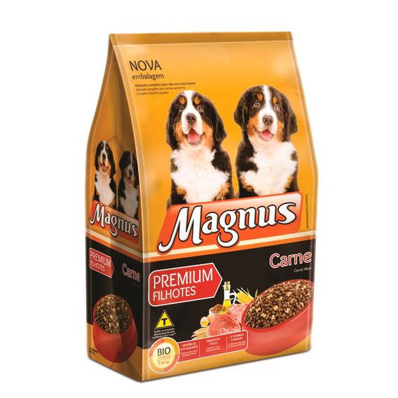 Ração Magnus Premium Para Cães Filhotes Sabor Carne 10,1kg