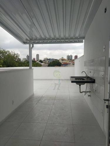 Cobertura Com 2 Dormitórios À Venda, 92 M² Por R$ 450.000,00 - Jardim Ocara - Santo André/sp - Co0320