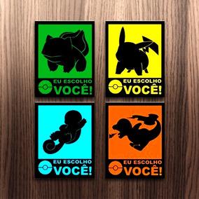 Kit 10 Placas Decorativas Gamer Geek Filmes Séries Games