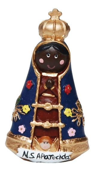20 Imagem Nossa Senhora Aparecida Infantil Em Resina 9cm