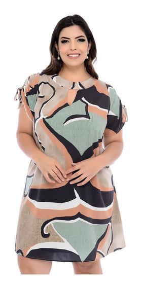 Vestido Plus Size Rayssa De Estampa Rustica