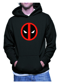 Moletom Deadpool Super Heroi Blusa Frio Marvel C/capuz