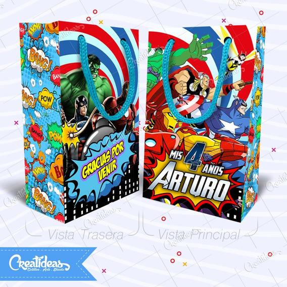Los Vengadores Comics Bolsitas Personalizada Pack X30