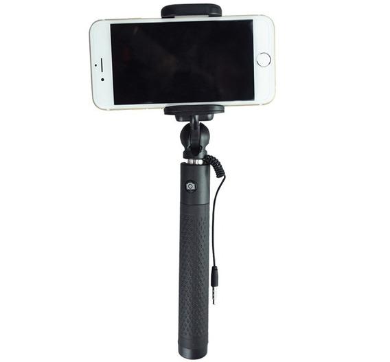 Bastão De Selfie Para Smartphones Retrátil E Com Disparador