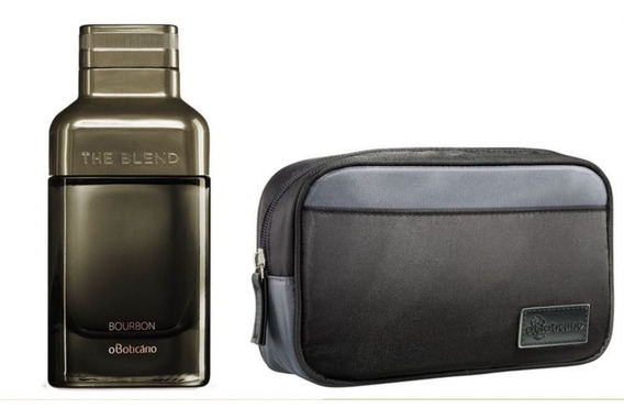 Kit The Blend Bourbon Eau De Parfum Boticário Com Necessaire