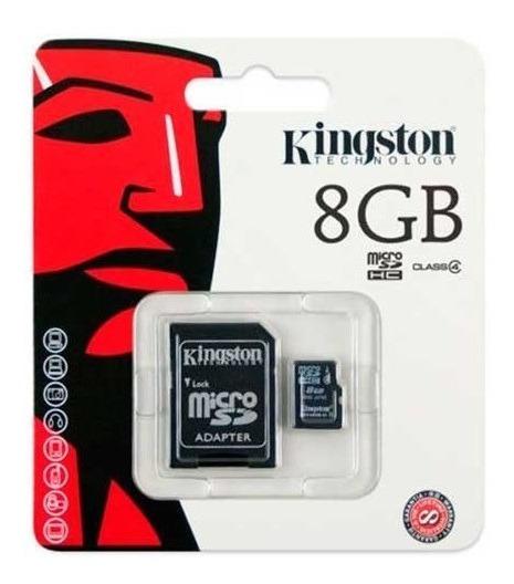 Cartão Memória Micro Sd 8gb Lacrado + Adaptador Sd