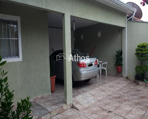 Casa Com  03 Dormitórios 1suíte E 2 Garagens, Jardim Alice, Indaiatuba- Sp. (ca04400) - Ca04400 - 34722278