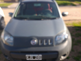 Fiat Uno Way 1.4 2012 Gris 5 Puertas
