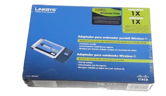 Cartão De Rede Pcmcia Wireless Wpc54g-la Linksys