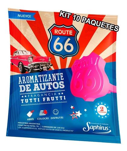 Perfume Fragancia Aromatizante Para Auto Kit 10u - Route 66