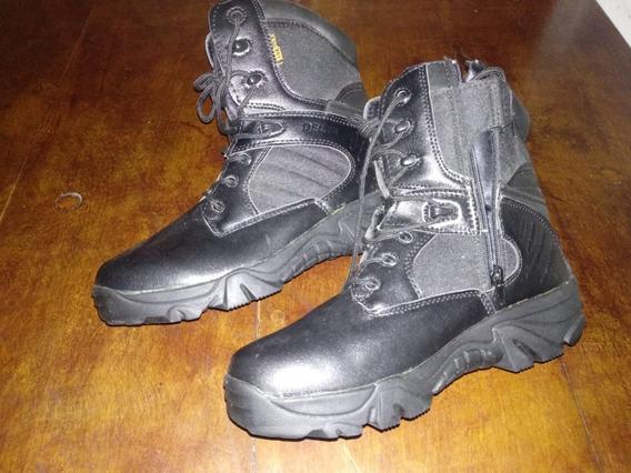 Coturno/bota Militar Com Zipper