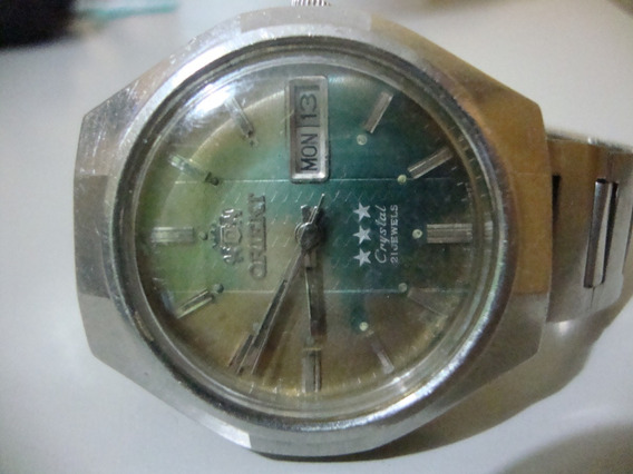 Relógio De Pulso - Orient Cristal 21 Rubis