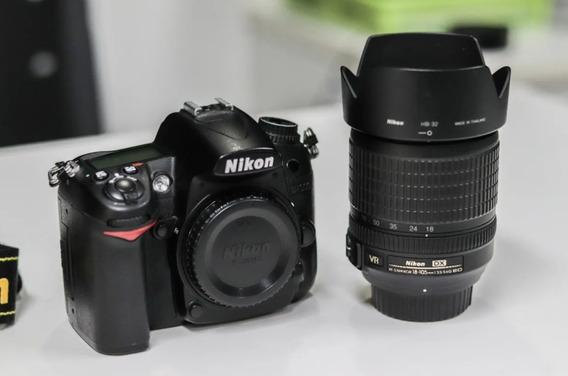 Câmera Fotográfica Nikon D7000 + 18-105mm + Bolsa - Completa