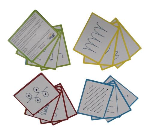 Imagen 1 de 3 de Ingeniacrea 3 Pack Tarjetas Montessori Trazos/cursiva/molde