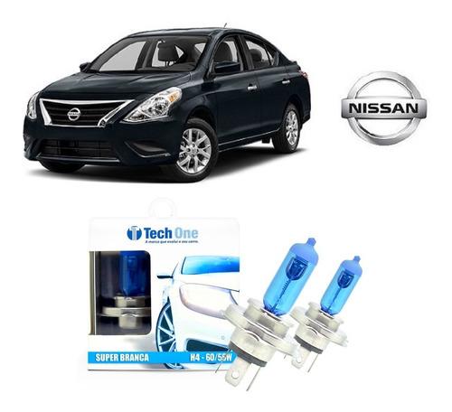 Imagem 1 de 3 de Kit 2 Lampadas Super Brancas Farol Alto E Baixo Nissan Versa