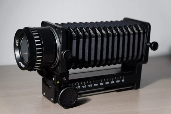 Fole Macro Bellows + Lente M42 Vega 5u 105mm F/4 Como Novos