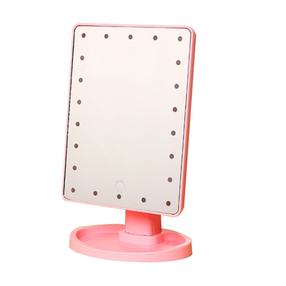 Mulheres Led Iluminado Maquiagem Espelho Vaidade Espelho Ban
