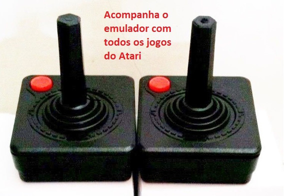 2 Controle Atari 2600 Usb Todos Jogos,