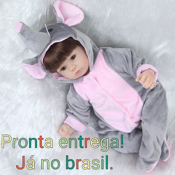 Boneca Bebê Reborn Elefantinha! Pronta Entrega!