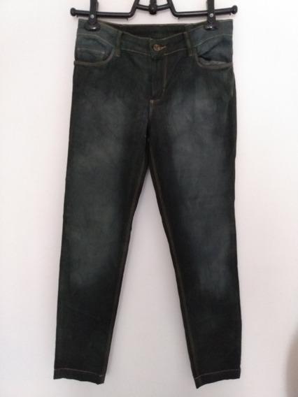 Calça Jeans Verde Escuro Farm Tamanho 40