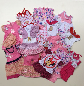 Kit 5 Conjuntos Feminino Para Bebês 2-6 Meses Veste (p-m)!!