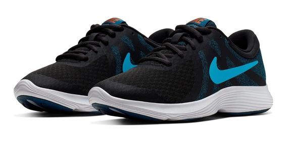Tenis Nike Revolution 4 Gs Azul Original + Envio Gratis