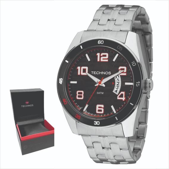 Relógio Technos Aço Original Garantia 1 Ano A Prova Dágua