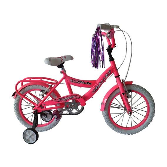 Bicicleta Niños Halley Rodado 16 Dama Cross Y Varios Colores