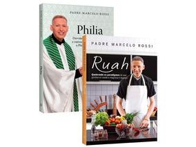 Livros Philia + Ruah (brinde Medalha) - Padre Marcelo Rossi