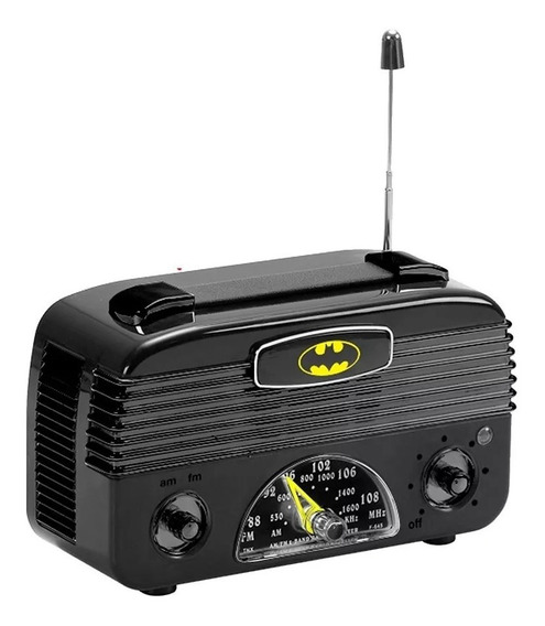 Rádio Batman Retrô Am Fm Licenciado Dc Comics Novo