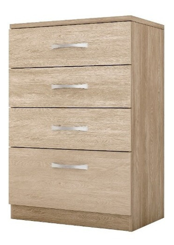 Comoda Astral Nogal 4cajones  Multimuebles