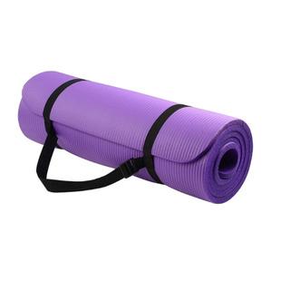 Tapete Roxo Yoga Colchonete Exercícios Pilates 8mm Com Alça