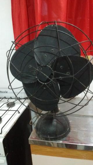 Ventilador De Mesa Eslabon De Lujo. Base Fundicion. Funciona