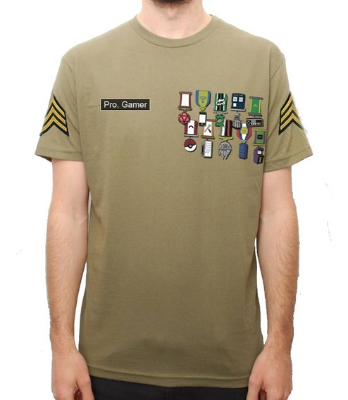 Playera Camiseta Medallas Geek Dr Who Lego Army Zelda Pokmon