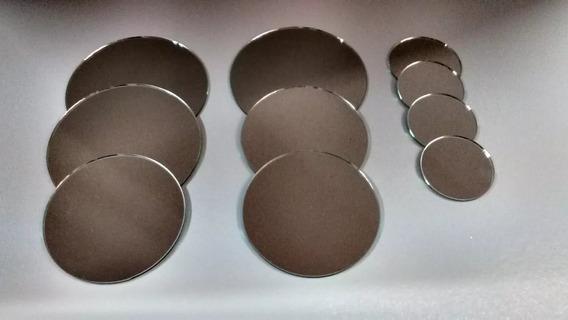 Espejo Redondo Para Souvenir/artesanías 11 Y 12 Cm Diám