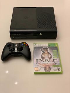 Xbox 360 Slim Modelo E Con Joystick Y Juego - Europea (leer)