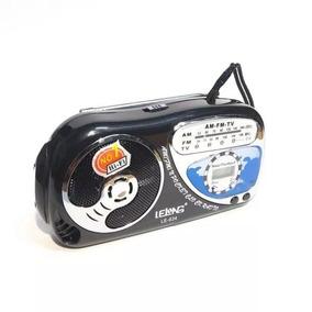 Mini Rádio Am/fm/tv Lelong Modelo Le634 3 Bandas Receptoras