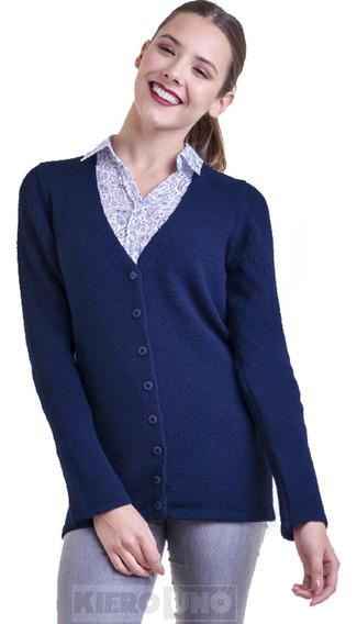 Cárdigan Escote V Mujer Con Botones Saco Sweater - Kierouno