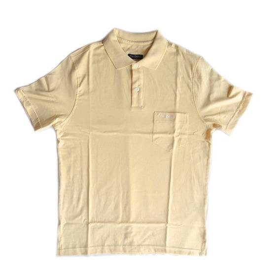 Camisa Pierre Cardin Polo Masculina Manga Curta Algodao