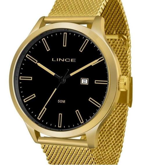 Relógio Lince Masculino Dourado - Mrg4494s P1kx