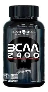 Bcaa 2400 30cap Caveira Preta Black Skull