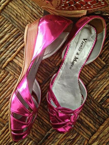 Sandalias Viento & Marea Metalizadas Número 40