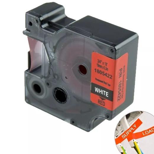 Fita Vermelha 3m 19mm X 5.5m Para Rotuladora