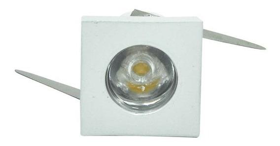Lâmpada Led Mini Spot Quadrado 1w Bivolt 3000k Mbled